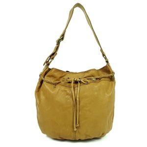 LUCKY BRAND Brown Leather Bucket Hobo Bag